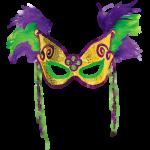 Máscara Carnaval - Penas e contas