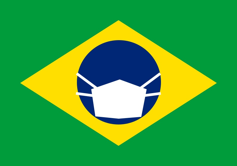 Brasil com máscara