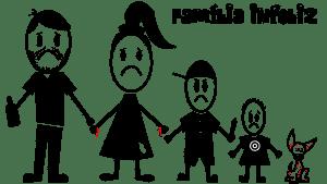 familicia- adesivo família infeliz